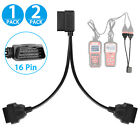 16 Pin Obd2 Obd Ii Scanner Splitter Adapter Cable Ra Male To Dual Female Y Cable