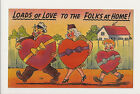 Vintage Novelty Postcard Loads Of Love To The Folks At Home Unposted NOS