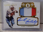 2017 Panini Flawless Earl Campbell Houston Oilers 3 Patch Relic ON CARD Auto 4 5