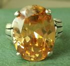 Silpada RETIRED 8ct+ Large Citrine Your Highness Ring . size 5.75