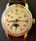 ARSA Auguste Reymond Triple Calendar Moon Phase Elegant Vintage Men's Watch 1950