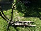 rare antique round oak parlor stove dolly mover wood burning pot belly lifter