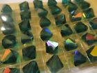 24 Vintage Swarovski 12mm Emerald AB Bicone Beads ART 364 5301