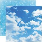 Aware Clouds scrapbook paper double sided 12x12 Reminisce ELE005 2 sheets