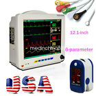 USA 12'' ICU CCU 6-parameter Patient Monitor System Vital Sign Cardiac+Gift Care