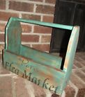 Primitive Farm Country Cottage Decor Paris Flea Market Tool Caddy Tray Box