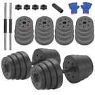 Deluxe 30Kg Dumbbells Pair of Weights Barbell Dumbells Body Building Set Gym Kit