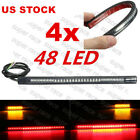 US 4X 48LED Tail Brake Stop Turn Signal Strip Light For Hyosung RX125 GT650/R/S