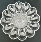 VTG ANCHOR HOCKING FAIRFIELD CLEAR DEVILED EGG PLATE PLATTER SERVING DISH TRAY