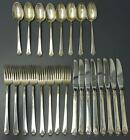 Royal Crest Sterling CASTLE ROSE 1942 Silverware 24 pc Set Fork Knife Spoon