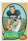 1970 Topps Football Paul Hatley 66 NM free shipping on order of $3.00 or more