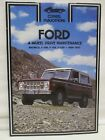 Clymer Ford 4 Wheel Drive Maintenance Bronco F 100 F 150 F 250 1969 1977 Manual