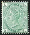 SG150 1/- Green plate 8 M/Mint original Gum (sweated) Cat 825 pounds