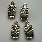 30pcs Tibetan silver alloy in the shape of  owl  pndant 15x7mm