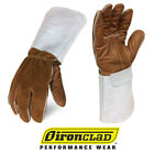 Ironclad Premium Grain Leather Welding Gloves Exo2 Mig Weld Gloves - Select Size