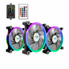 aigo Z6 3 Pack RGB Computer PC Case Cooling Fan CPU Cooler LED 120mm 6 Pin
