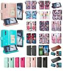 LG Stylo 4 Design Wallet Credit Card ID Slot Stand Flip Cell Phone Case Cover