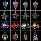 Retro Girl Crystal Skull Heart Flower Pendant Necklace Sweater Chain Jewelry Hot