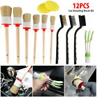 125x Car Interior Detailing Brush Boar Hair Wheel Air Conditione Cleaning Tools