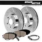 Front Drilled And Slotted Brake Rotors And Ceramic Pads BMW 128i 325i E87 E90