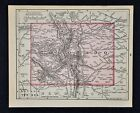 1900 McNally Map Colorado Denver Bolder Aspen South Park Pike's Peak Springs