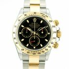 Rolex Mens Watch 40mm Cosmograph Daytona 116503 Gold and Steel Black Dial