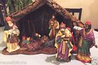 Nativity Manager Scene Vintage Christmas Creche 11 Piece Set 7 Figure Porcelain