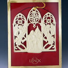 Lenox China 2000 NATIVITY ANGELS  Holy Family Christmas Ornament Pierced MIB