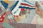 Early Fabric Madder Crazy Cotton Patchwork Antique Quilt Top Piece