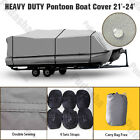Waterproof Trailerable Pontoon Boat Cover 21 22 23 24 Heavy Duty 600D PPT2H