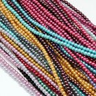 50 x Environmental Dyed Glass Pearl Round Beads Strands Mixed Color 3 35mm 15