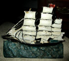 Antique Cast Iron American Clipper SAILING Ship Paperweight Doorstop MARKED NR