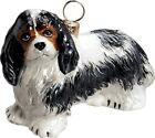 Cavalier King Charles Tri Color Dog Polish Glass Christmas Ornament Decoration