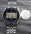 .02 CENTS NR MENS  VTG TIMEX ATLANTIS STEEL 100 NEW BATTERY FREE SHIP