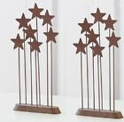 Willow Tree Metal Star Backdrop Metal Nativity Christmas Figurines Set of 2 New