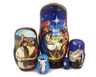 Christmas Matryohka Nativity of Jesus Christ 5 Piece Russian Icon Nesting Dolls