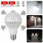 Indoor Outdoor Motion Sensor Light Bulb Motion Activated LED Dusk to Dawn 7W 9W