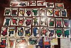 1975 TOPPS MARVEL COMIC BOOK HEROES STICKERS NEAR SET 37 40 PLUS 9 CHECKLISTS