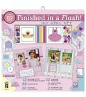 Finished in Flash My Girl Scrapbook Kit 12 x 12 Papers Brads Ribbons + HOTP