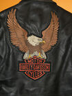 Vintage Niki Harley Davidson Leather Motorcycle Jacket Mens 40 Punk Biker Black
