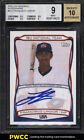 2010 Topps USA Baseball Francisco Lindor ROOKIE RC AUTO #A11 BGS 9 MINT (PWCC)