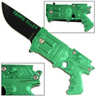 Zombie Killer Apocalypse California Legal Assisted Gun Knife Metallic Green
