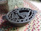 Old Primitive Vintage Cast Iron Stove Top Humidifier With Running Deer Design