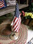 Primitive Antique Cast Iron Flag Stand Pole Holder With Shabby Paint