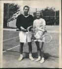 1946 Press Photo Billy Ford and Martha Firestone played mixed doubles at tennis.