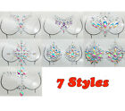 7 Styles Jewels Adhesive Chest Gems Party Rhinestones Body Glitter Stickers