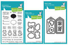 Lawn Fawn Say What Christmas Critters Gift Tags Clear Stamp  Die Set