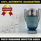 Paco Rabanne Invictus Aqua Men 2ml 3ml 5ml 10ml AUTHENTIC DECANT SAMPLE ATOMIZER