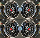 17 ESR SR01 Black Chrome Wheels 5x1143 17X85 +30 For Acura TSX RSX TL CL RL