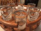 Fascinating!  Set of Six 1958-1968 Dow-Jones Bar Glasses, Excellent Condition!